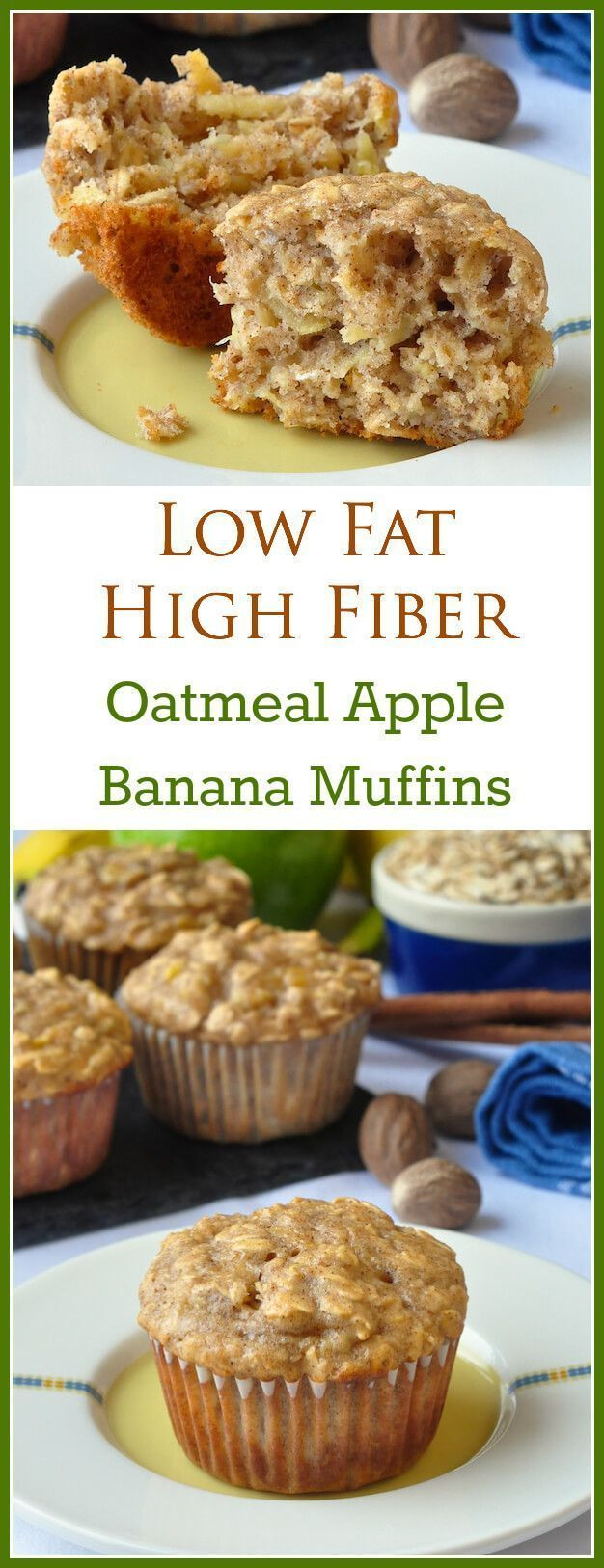 Healthy Breakfast Muffins Recipe  Oatmeal Apple Banana Low Fat Muffins Recipe