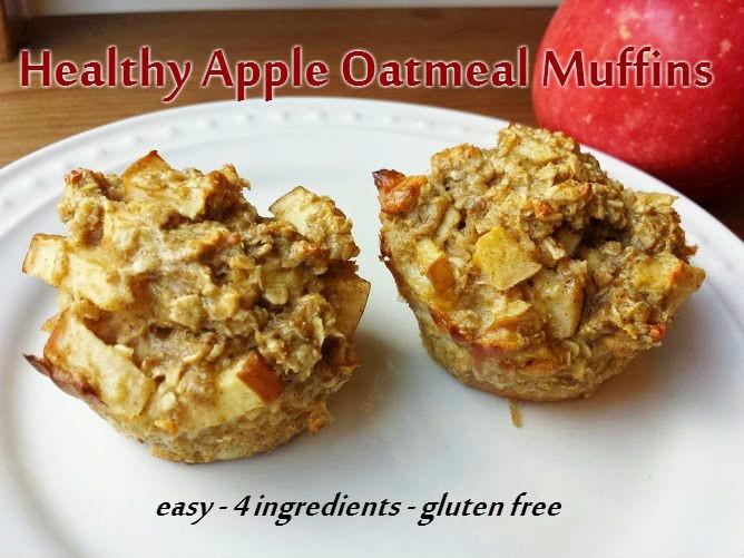 Healthy Breakfast Muffins Recipe  Healthy Apple Oatmeal Muffins Recipe Run Eat Repeat