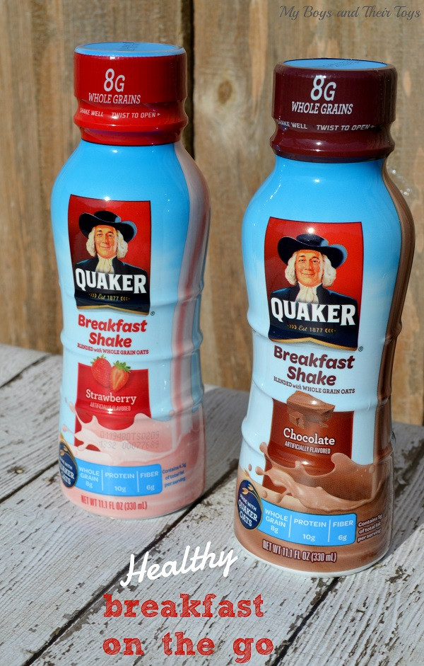 Healthy Breakfast On The Go  Healthy Breakfast on the go with Quaker Breakfast Shakes
