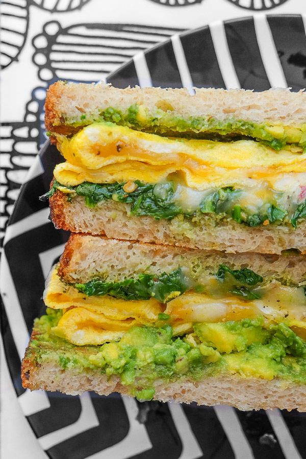 Healthy Breakfast On The Go To Buy  Spinach Egg Breakfast Sandwich