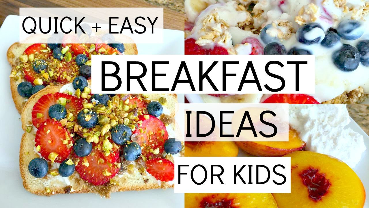 Healthy Breakfast Options For Kids  Easy Healthy Recipe For Toddlers