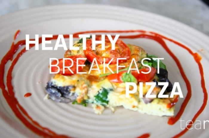 Healthy Breakfast Pizza  HEALTHY BREAKFAST PIZZA TeaMi Blends