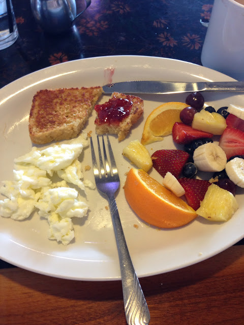 Healthy Breakfast Places  Healthy breakfast of egg whites fruit and gluten free