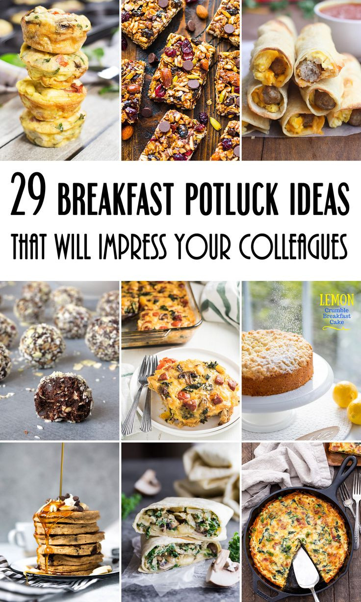 Healthy Breakfast Potluck Ideas  The 25 best Potluck Ideas on Pinterest