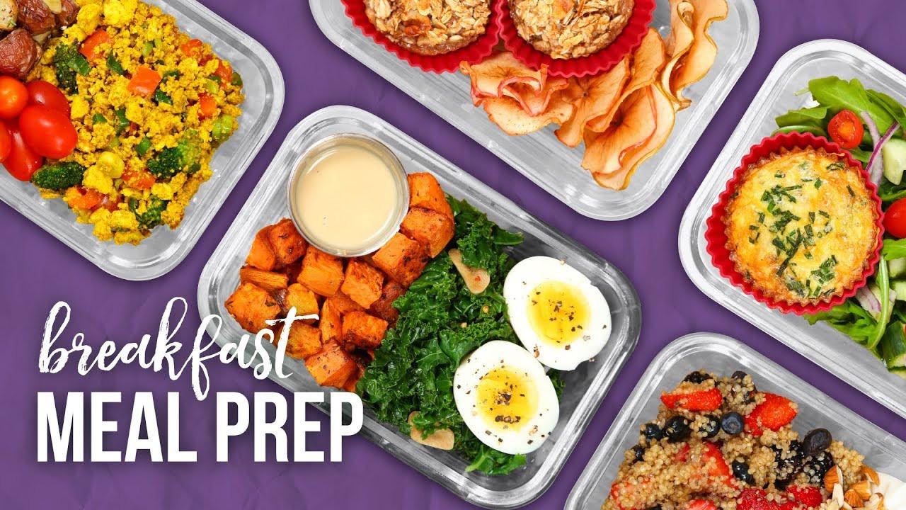 Healthy Breakfast Prep  5 Healthy BREAKFAST Meal Prep Ideas