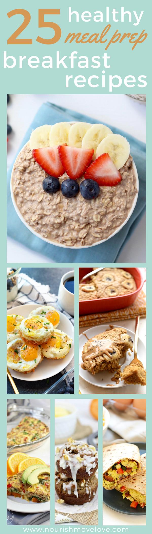Healthy Breakfast Prep  25 Healthy Meal Prep Breakfast Recipes
