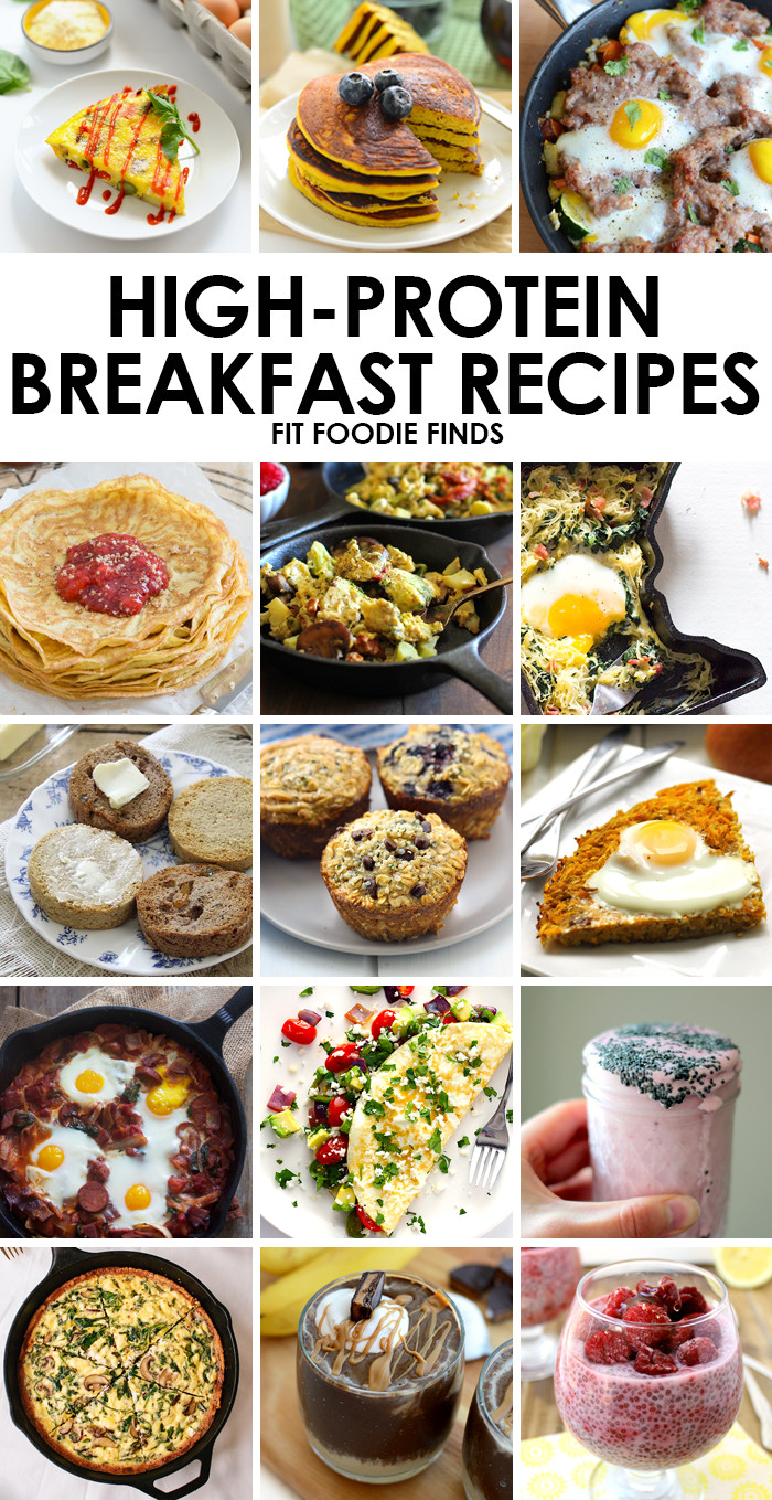 Healthy Breakfast Protein  High Protein Breakfast Recipes Fit Foo Finds