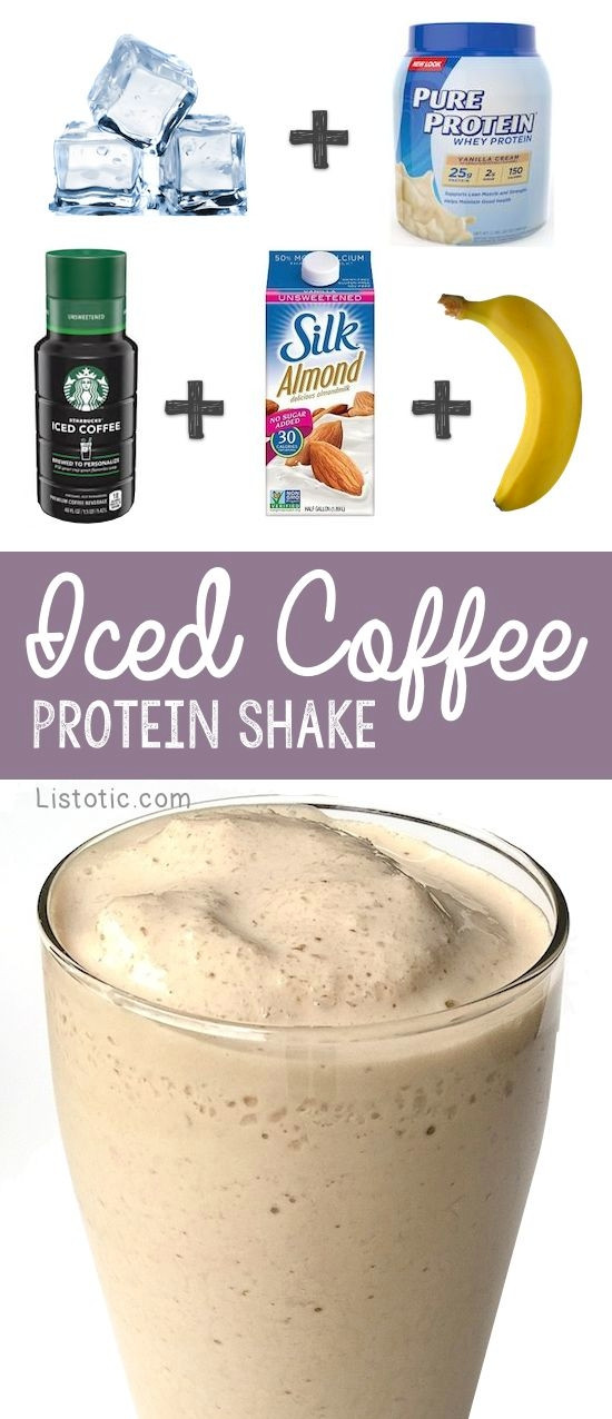 Healthy Breakfast Protein Shakes  Healthy Iced Coffee Breakfast Protein Shake Recipe For
