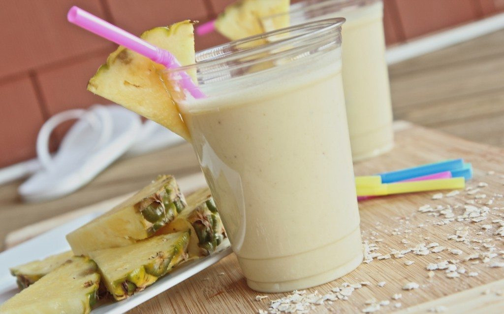 Healthy Breakfast Protein Shakes  Healthy Pina Colada Breakfast Smoothie Homemade Protein
