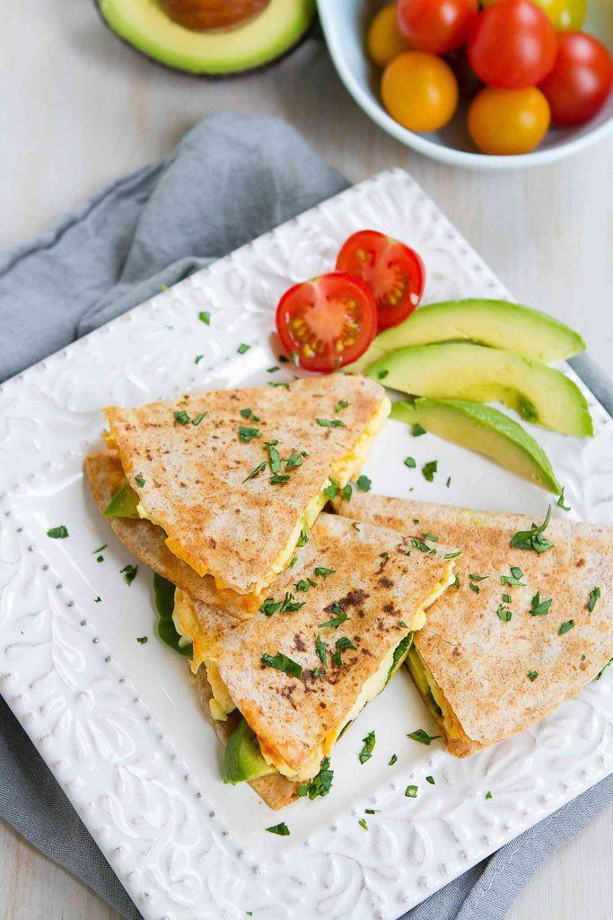 Healthy Breakfast Quesadilla  Spinach Avocado Breakfast Quesadilla Healthy Breakfast