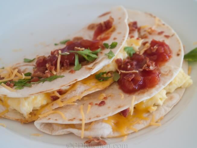 Healthy Breakfast Quesadilla  Healthy Cheesy Breakfast Quesadillas Recipe
