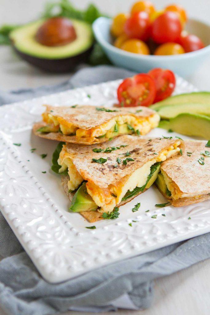 Healthy Breakfast Quesadilla Recipes  Spinach Avocado Breakfast Quesadilla Healthy Breakfast