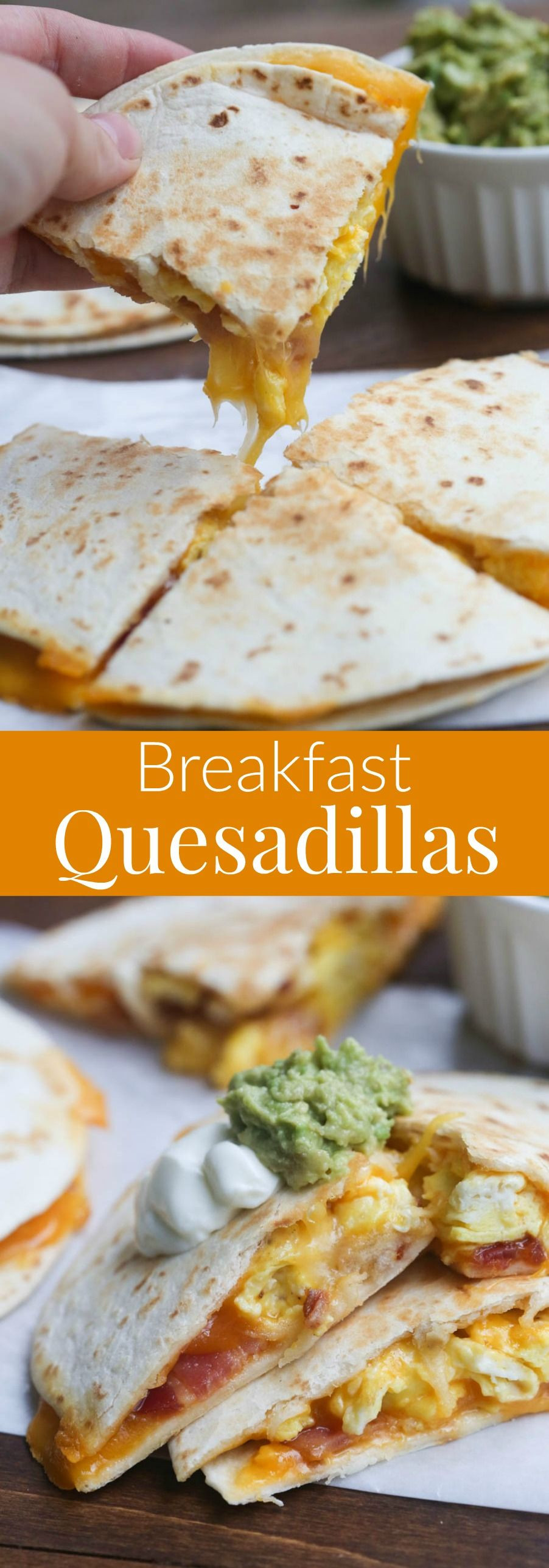 Healthy Breakfast Quesadilla Recipes  Breakfast Quesadillas with bacon egg and cheese An easy
