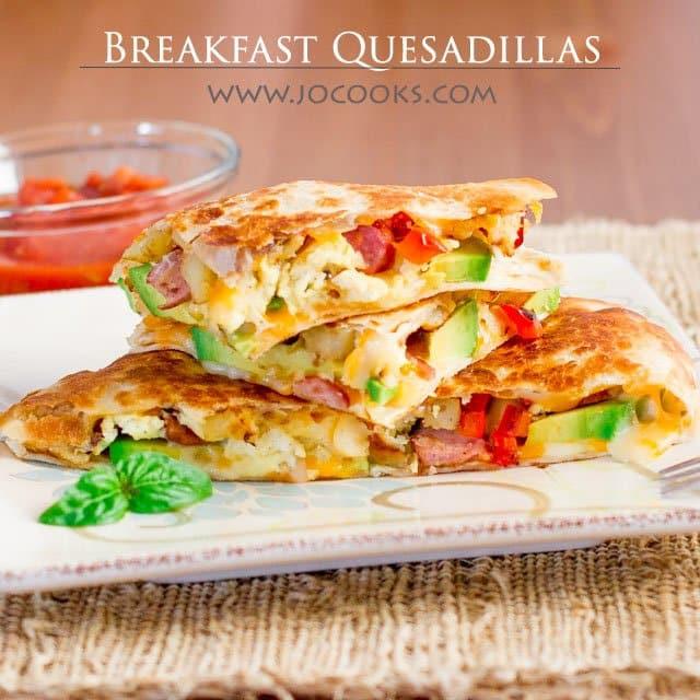Healthy Breakfast Quesadilla  Breakfast Quesadillas Jo Cooks