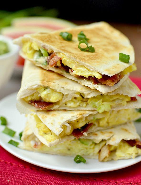 Healthy Breakfast Quesadilla  Healthy Breakfast Quesadillas – Five Fifty Two