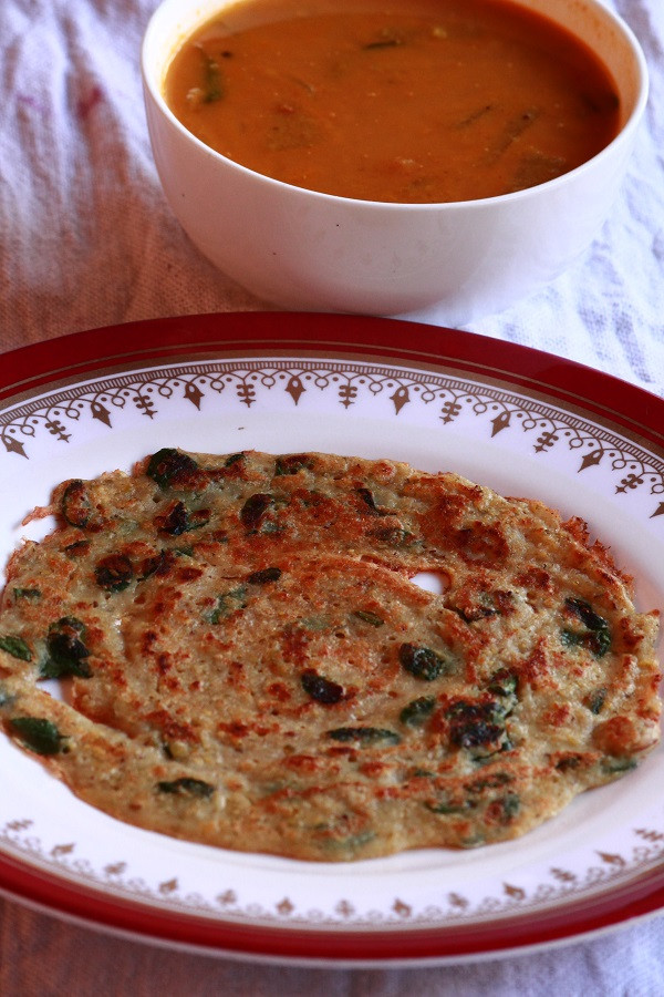 Healthy Breakfast Recipes Indian Vegetarian  Oats adai How to make adai with oats Easy adai recipe