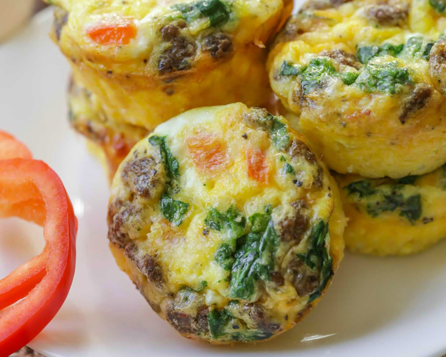 Healthy Breakfast Recipes With Eggs  Healthy Egg Muffins Recipe 110 Calories Each