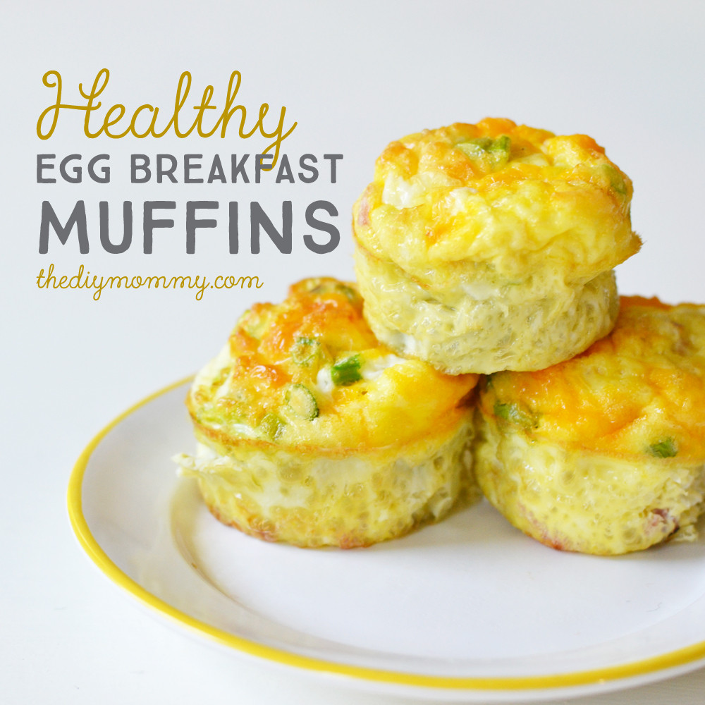 Healthy Breakfast Recipes With Eggs  Bake Healthy Egg Breakfast Muffins