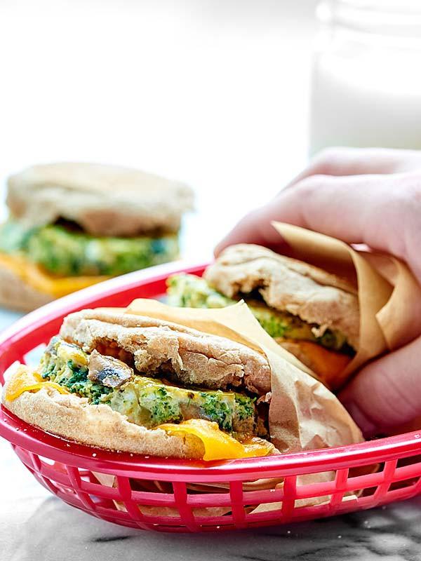 Healthy Breakfast Sandwich  Healthy Breakfast Sandwich Make Ahead Freezer Friendly