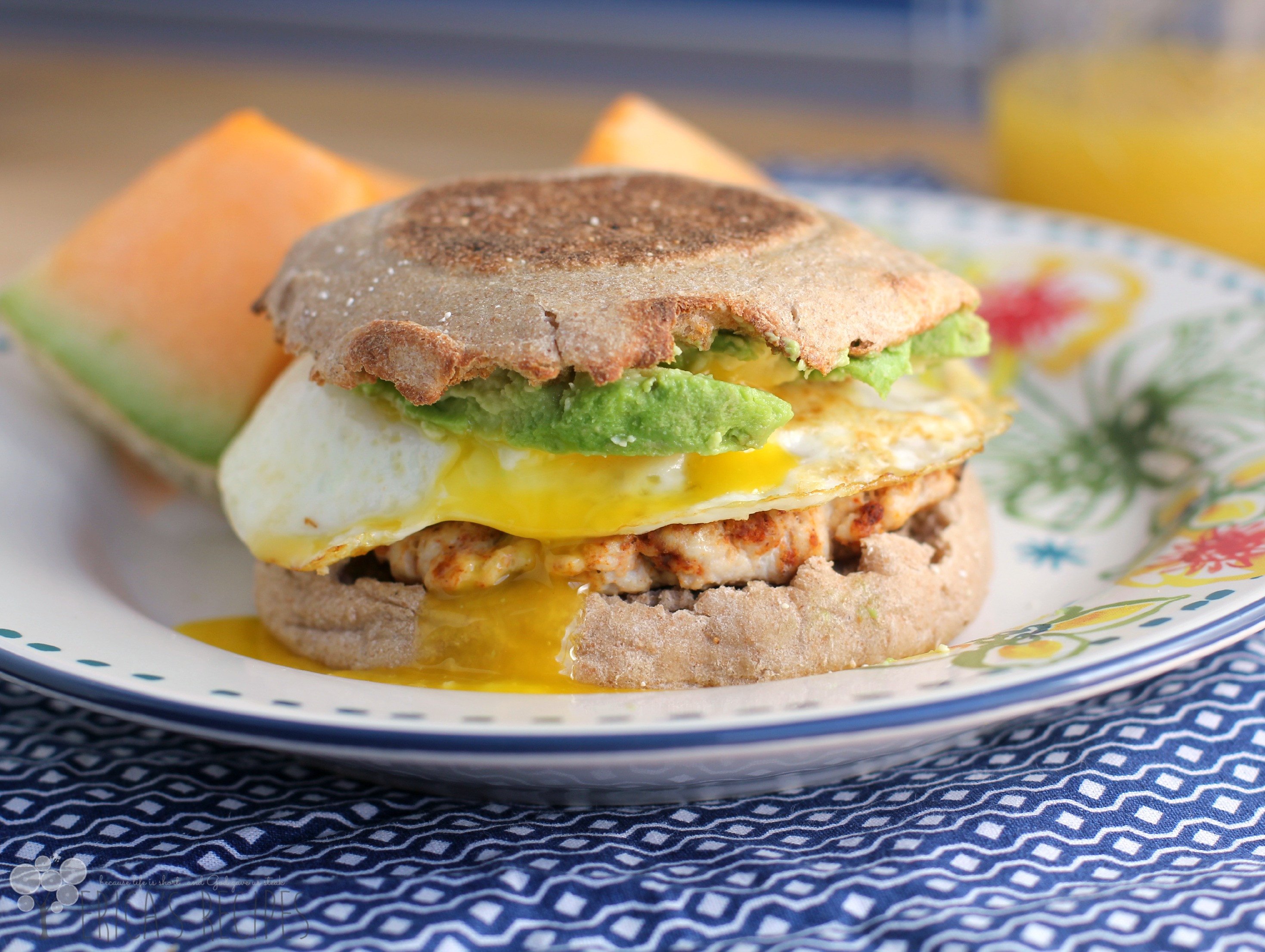 Healthy Breakfast Sandwich  Healthy Breakfast Sandwich with Homemade Turkey Chorizo