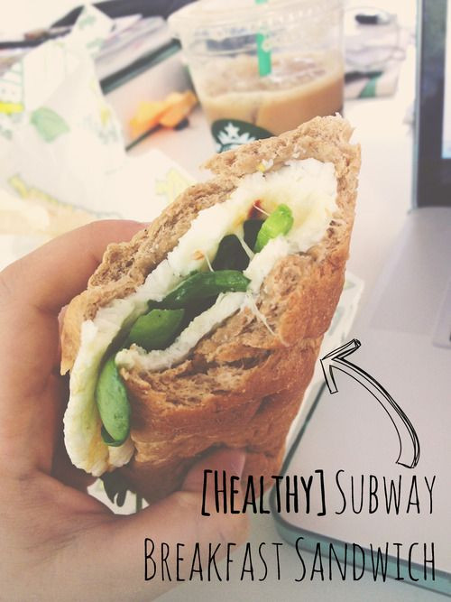 Healthy Breakfast Sandwich Fast Food  The 25 best Subway healthy ideas on Pinterest