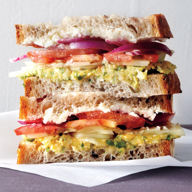 Healthy Breakfast Sandwich Ideas  Greek Salad Sandwich