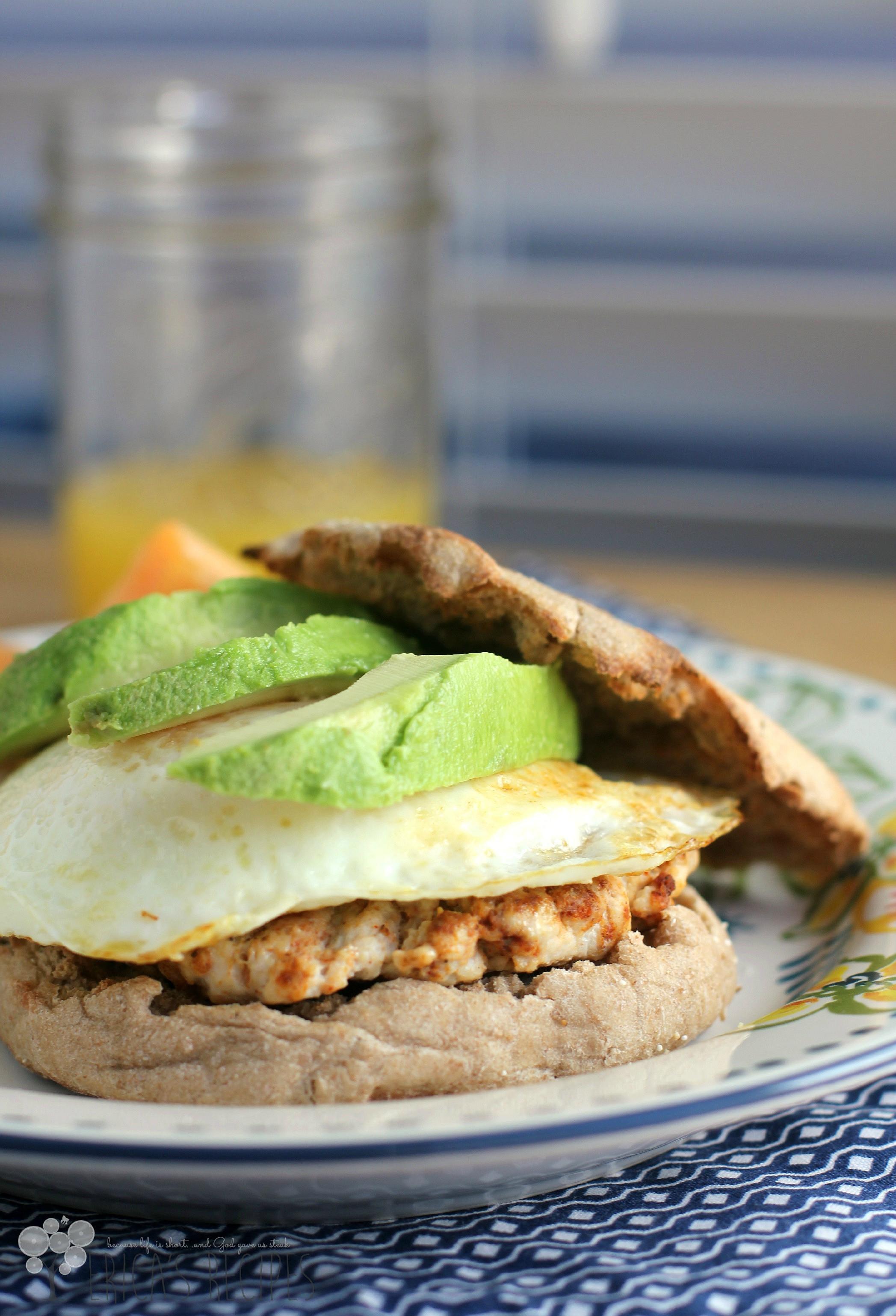 Healthy Breakfast Sandwich  Healthy Breakfast Sandwich with Homemade Turkey Chorizo