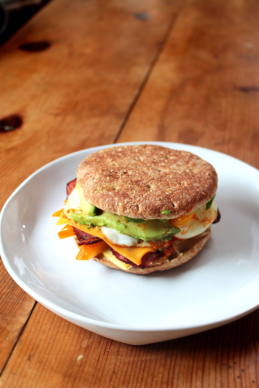 Healthy Breakfast Sandwich  Food Nasty Low Calorie Breakfast Sandwich