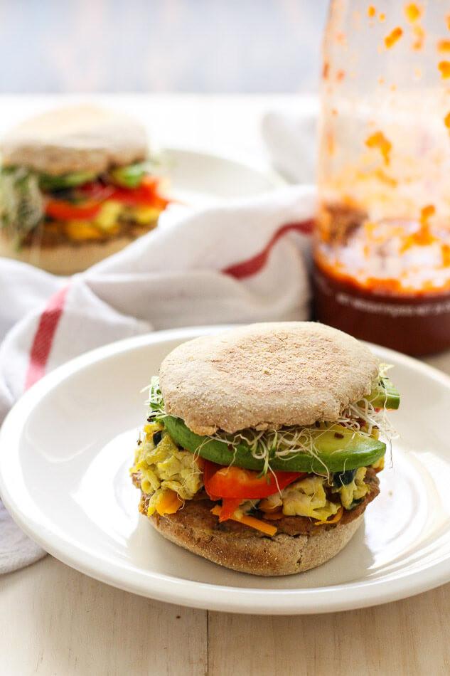 Healthy Breakfast Sandwich  Freezer Friendly Turkey Sausage Breakfast Sandwich