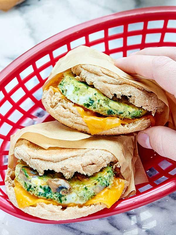 Healthy Breakfast Sandwich  Healthy Breakfast Sandwich Make Ahead Option