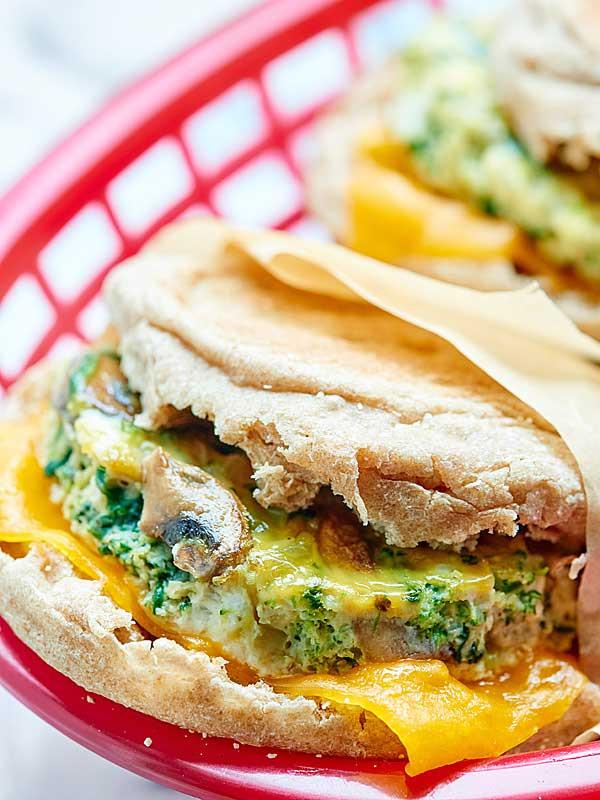 Healthy Breakfast Sandwiches  Healthy Breakfast Sandwich Make Ahead Option