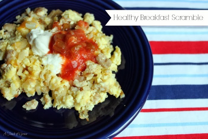 Healthy Breakfast Scramble  Healthy Breakfast Scramble A Fit Mom s Life