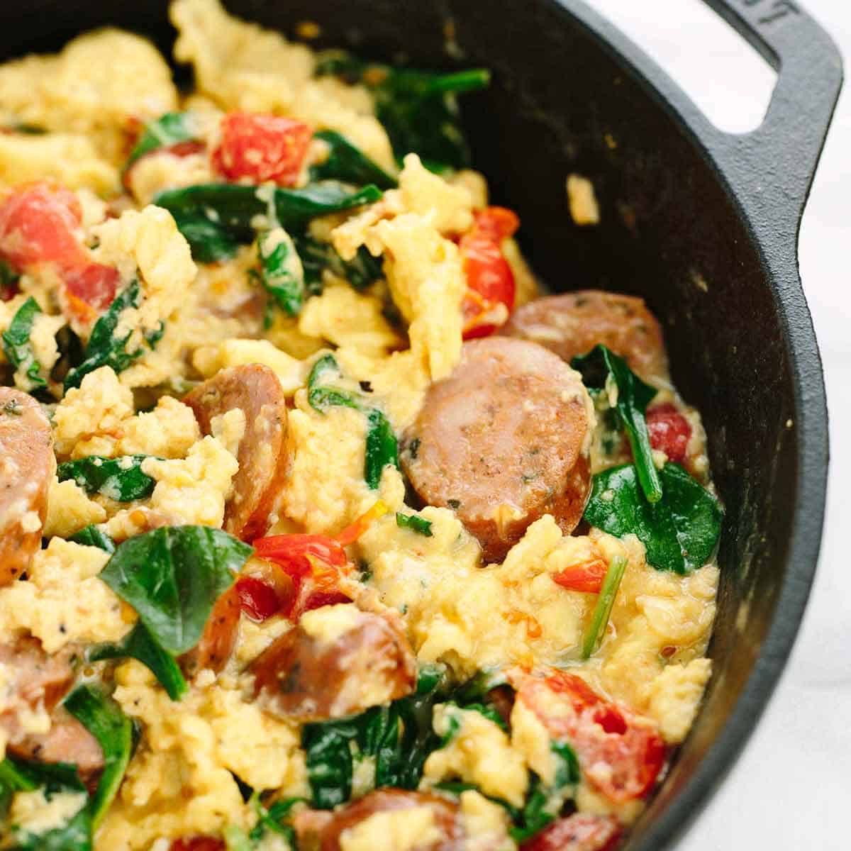 Healthy Breakfast Scramble  Breakfast Scramble Recipe with Italian Sausage Jessica Gavin