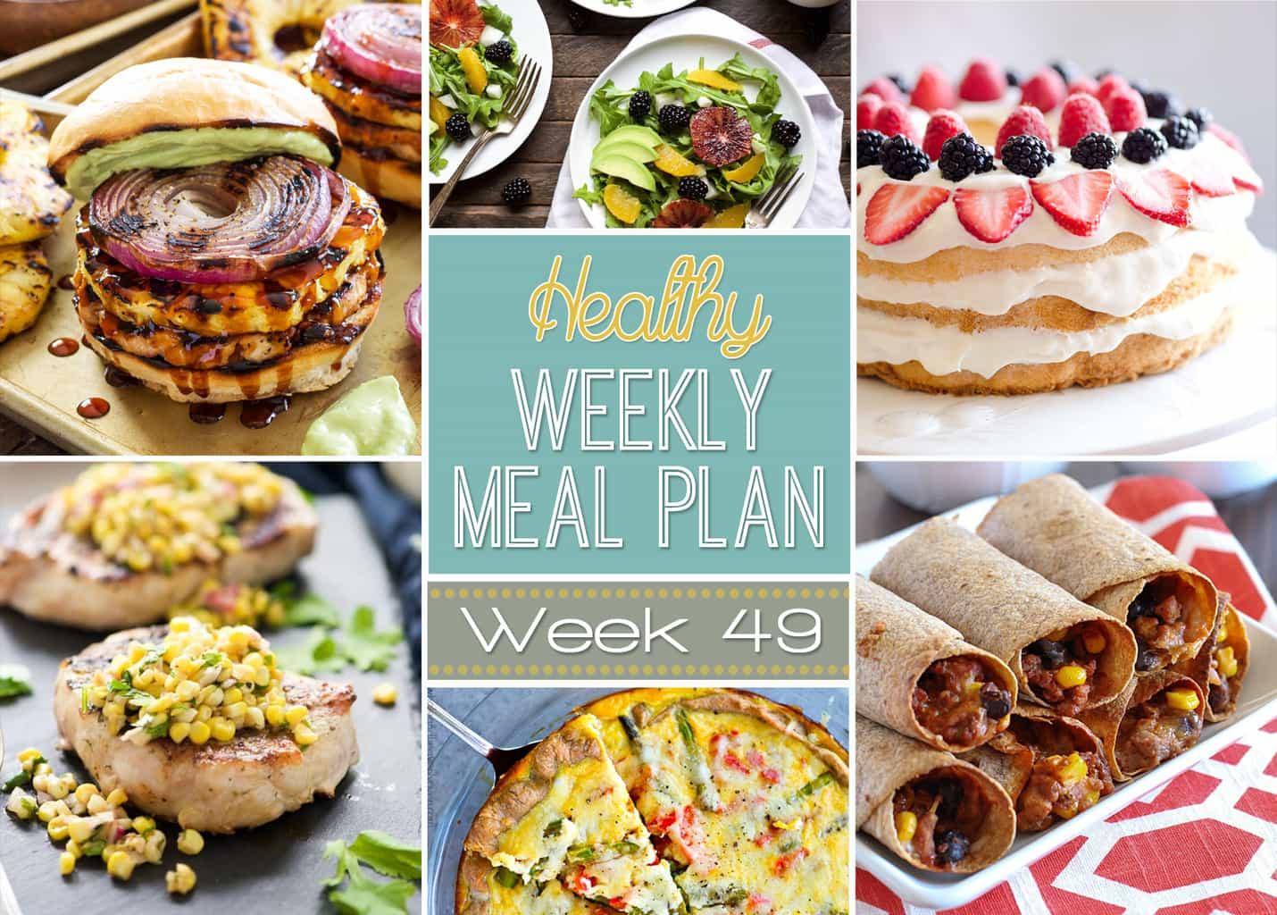Healthy Breakfast Sides  Healthy Weekly Meal Plan 49 Yummy Healthy Easy