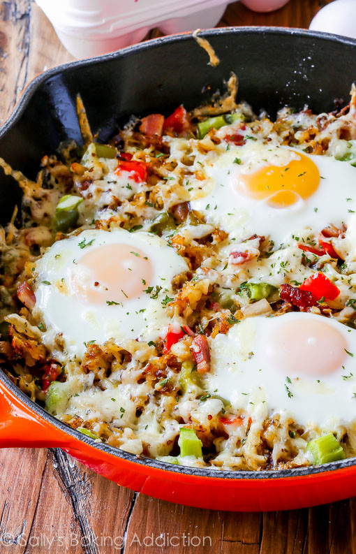Healthy Breakfast Skillet  KDR Healthy Eats Crispy Hash Brown Skillet KDR Fitness