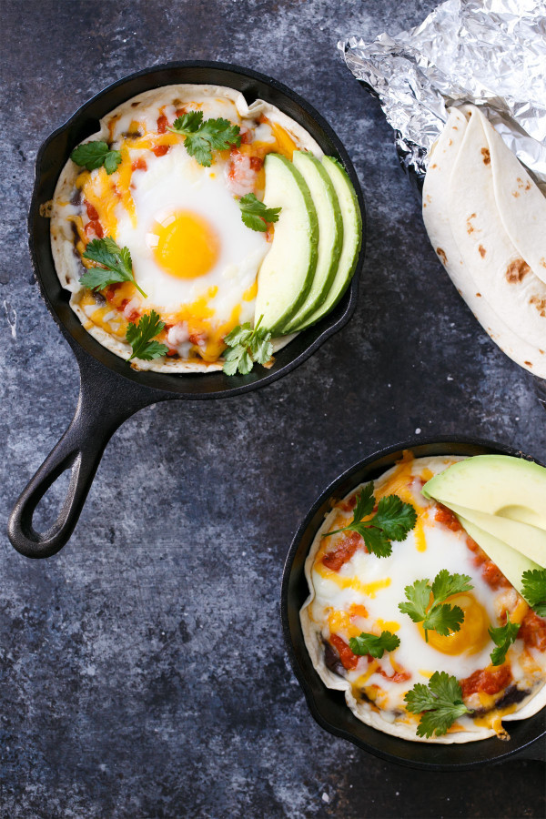 Healthy Breakfast Skillet  Skillet Huevos Rancheros – Love and Olive Oil