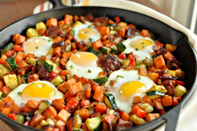 Healthy Breakfast Skillet  Sweet Potato Breakfast Skillet with Bacon