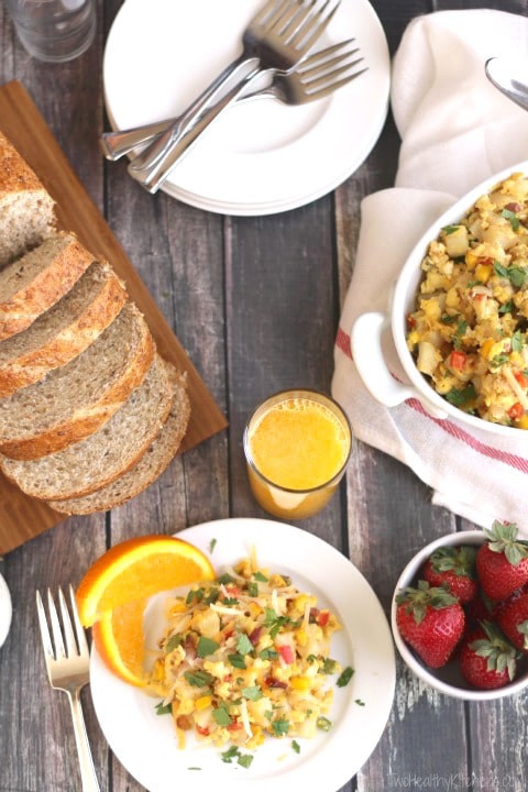 Healthy Breakfast Skillet  Southwestern Breakfast Skillet Scramble Two Healthy Kitchens