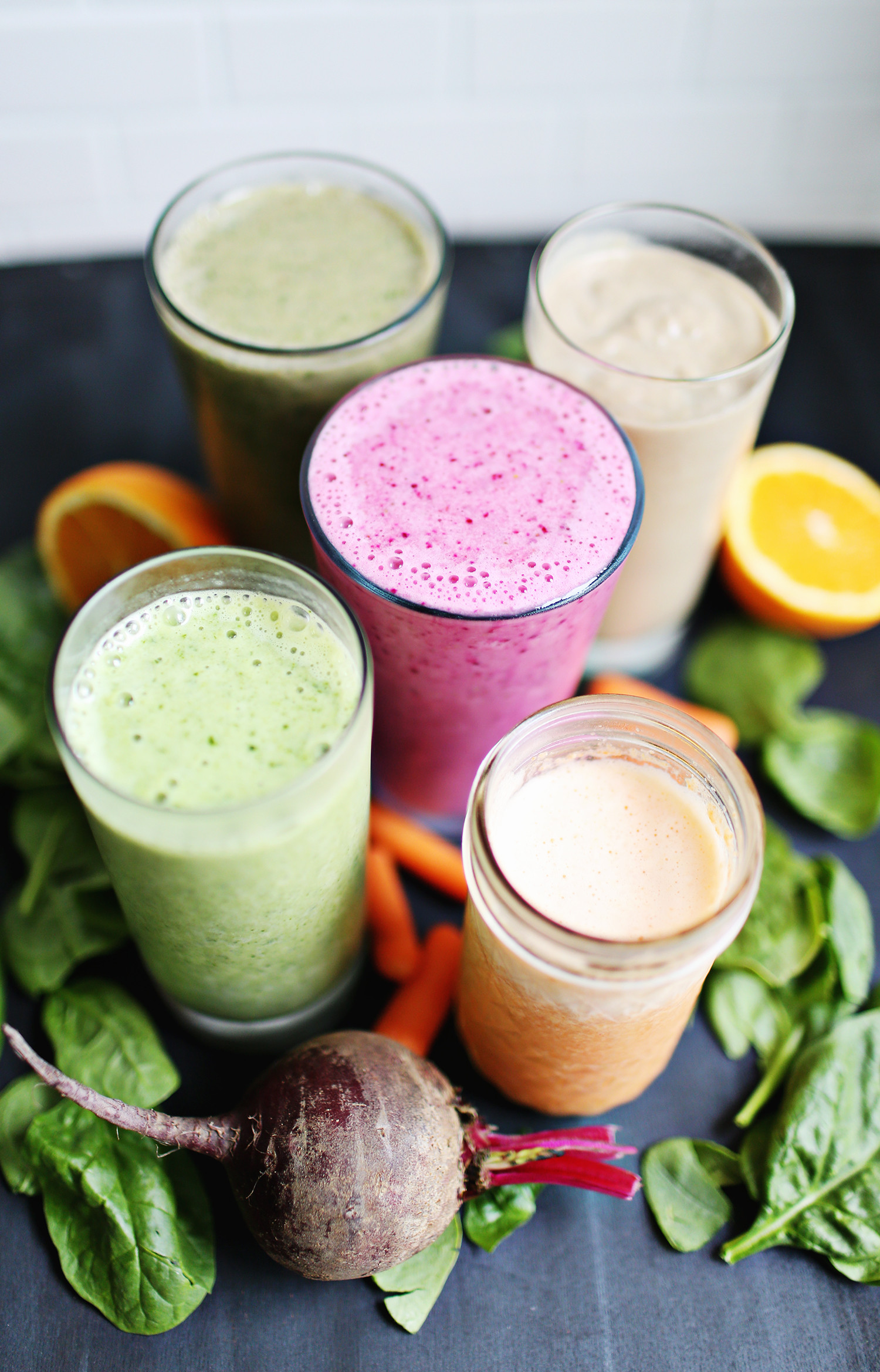Healthy Breakfast Smoothie  5 Veggie Based Breakfast Smoothies A Beautiful Mess