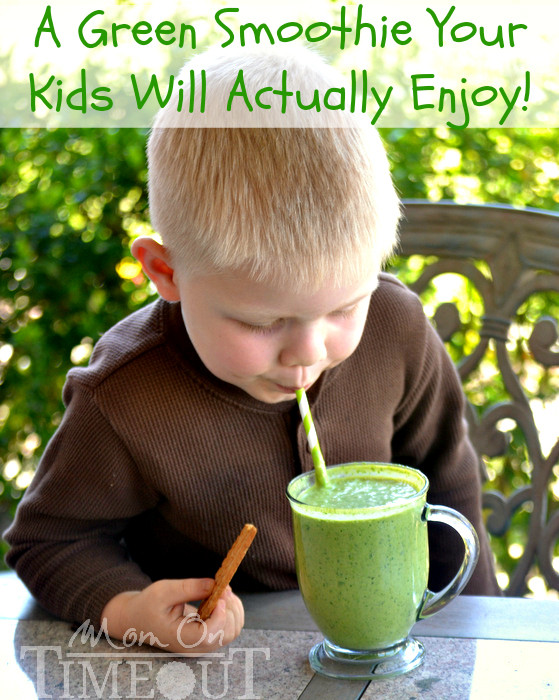 Healthy Breakfast Smoothies For Kids  Peanut Butter Banana Green Smoothie Recipe with Greek Yogurt