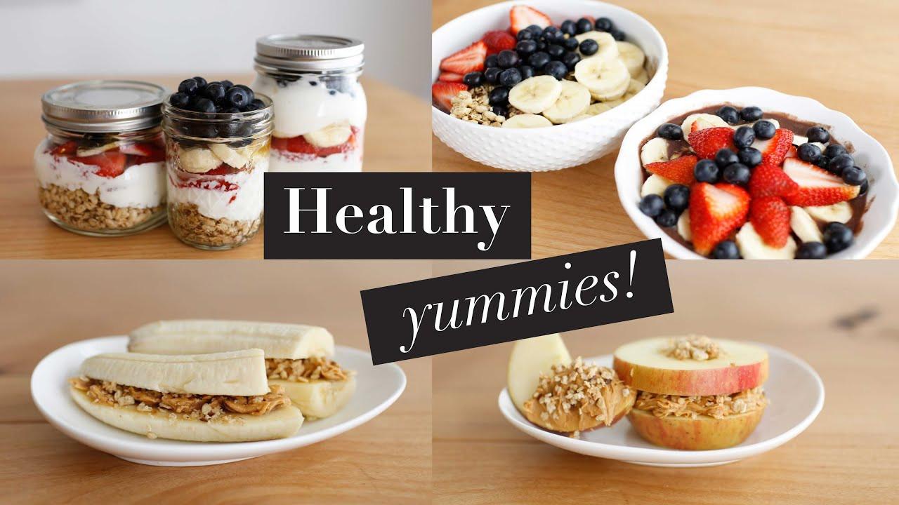 Healthy Breakfast Snacks  3 Simple Healthy Breakfast Snacks