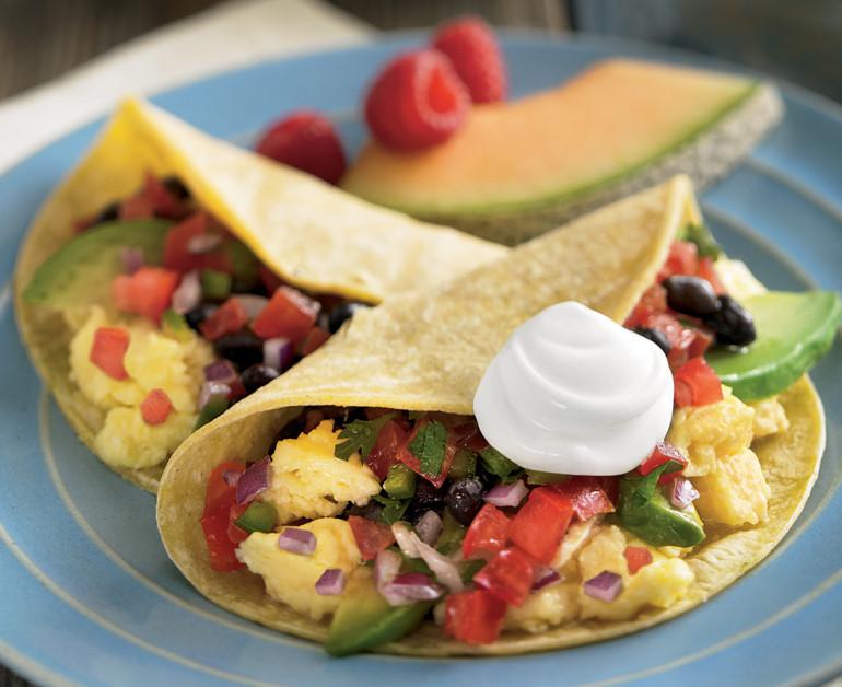 Healthy Breakfast Tacos  Light Breakfast Veggie Tacos Daisy Brand