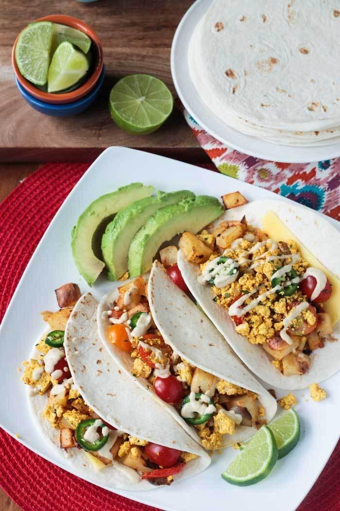 Healthy Breakfast Tacos Recipe  Healthy Breakfast Tacos w Tofu & Roasted Potatoes
