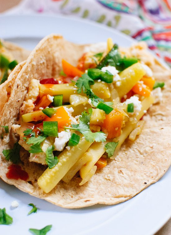 Healthy Breakfast Tacos Recipe  Veggie Breakfast Tacos Cookie and Kate