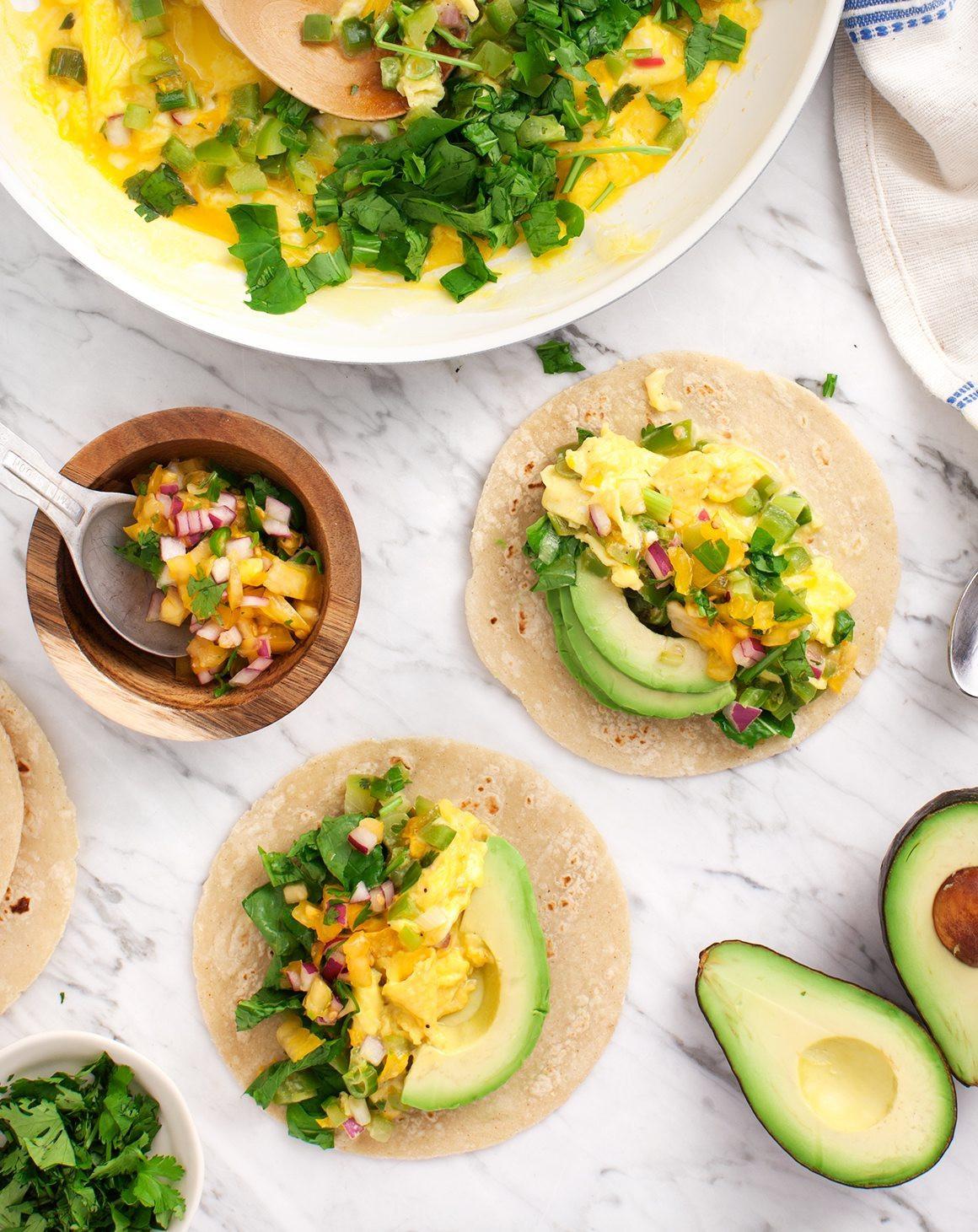 Healthy Breakfast Tacos Recipe  Healthy Green Breakfast Tacos Recipe Love and Lemons