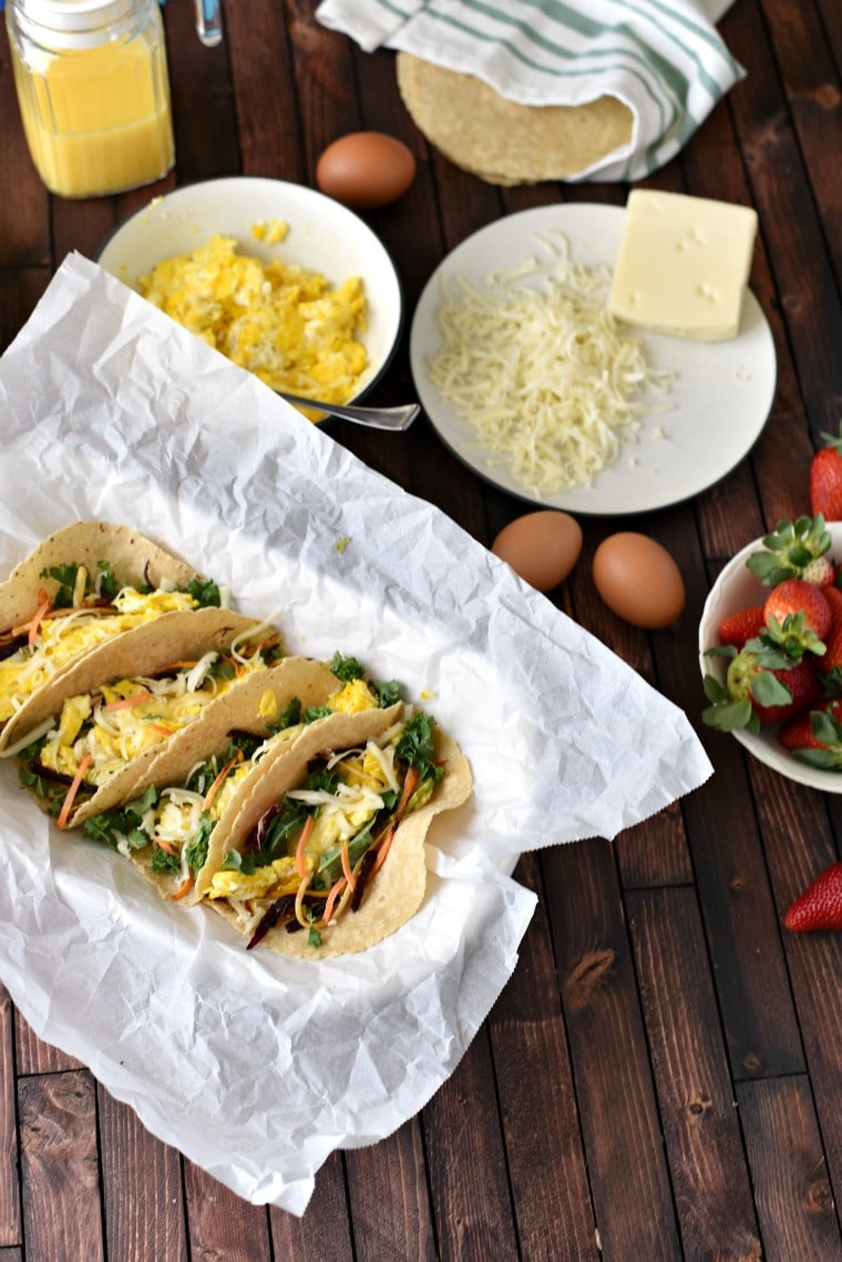 Healthy Breakfast Tacos Recipe  20 Minute Kid Approved Roasted Ve able Breakfast Tacos