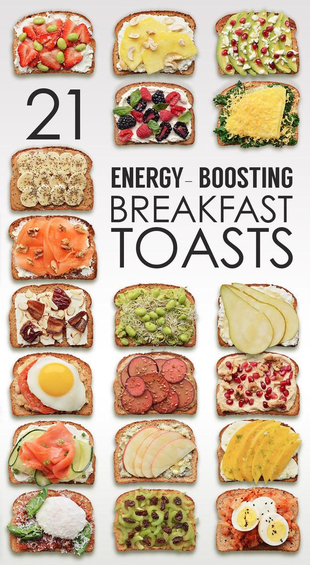 Healthy Breakfast Toast  21 Ideas For Energy Boosting Breakfast Toasts