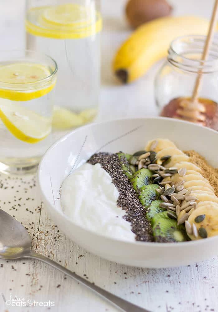 Healthy Breakfast Treats  Super Healthy Breakfast Bowl Julie s Eats & Treats