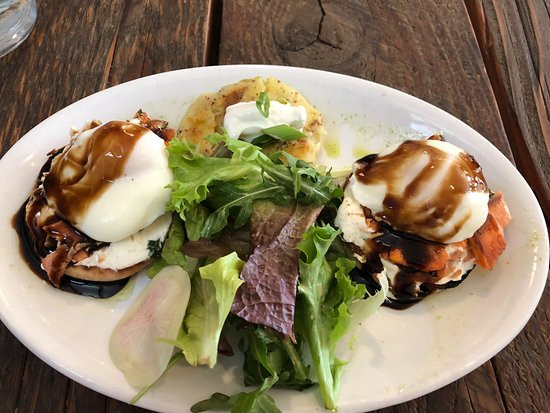 Healthy Breakfast Tucson  Salmon Benedict Picture of 5 Points Market and