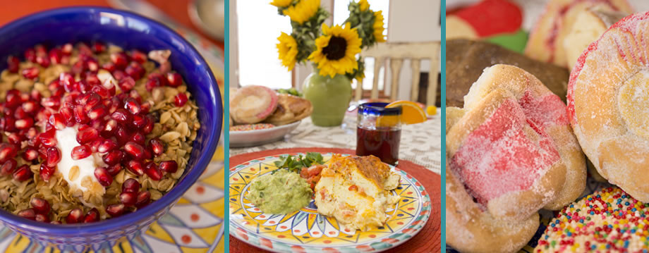 Healthy Breakfast Tucson  Blue Agave Bed and Breakfast Tucson Rolls Muffins Sweetbreads